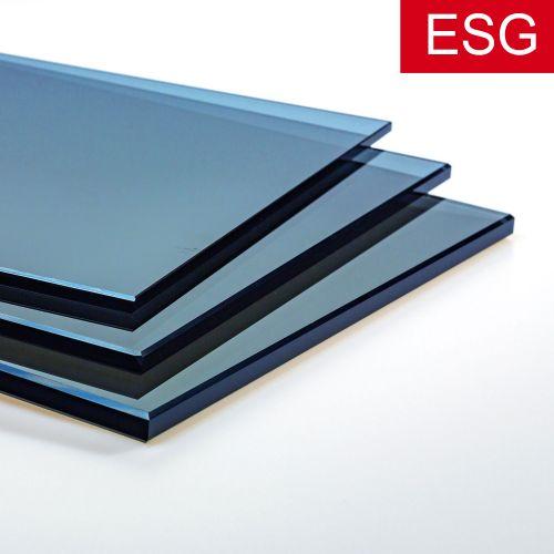 """Parsol-Blau Glas """"PRO blue"""" als ESG - Sicherheitsglas  Vorschaubild #1"""