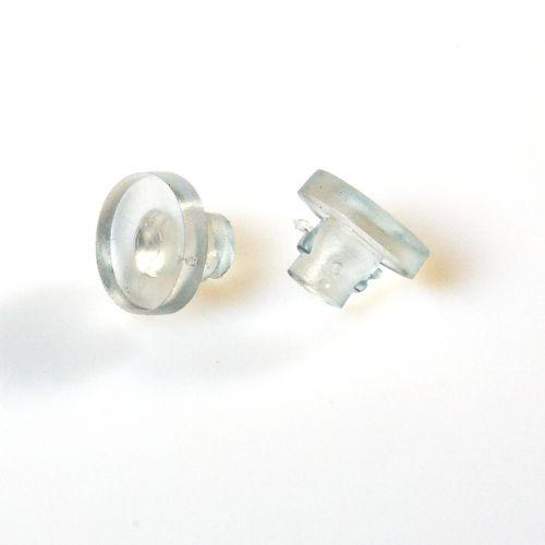 Aufleger mit Fuß für Bohrlöcher, transparent, 10 Stück  Vorschaubild #1