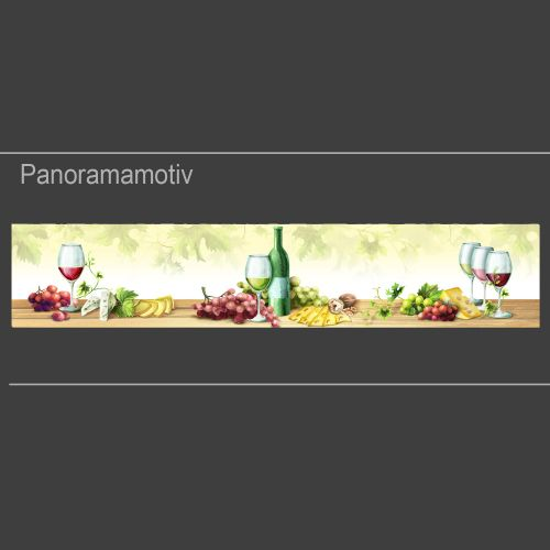 """Küchenrückwand aus Glas mit Motivdruck """"Wein""""  Vorschaubild #1"""