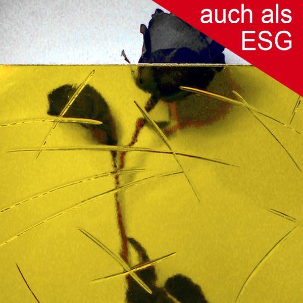 """Ornamentglas """"Gußantik"""" als ESG - Sicherheitsglas, gelb getönt"""