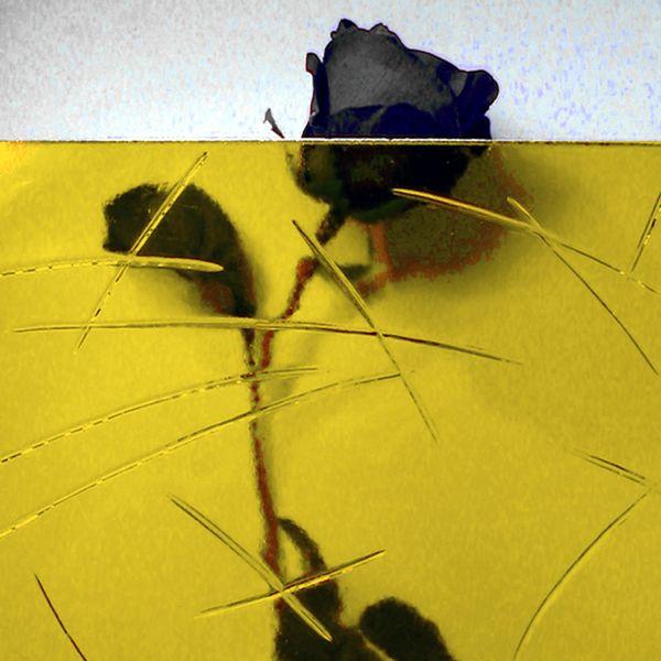 """Ornamentglas """"Gußantik"""", gelb getönt"""