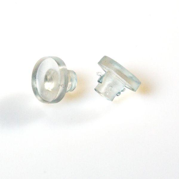 Aufleger mit Fuß für Bohrlöcher, transparent, 10 Stück   Mirrortec