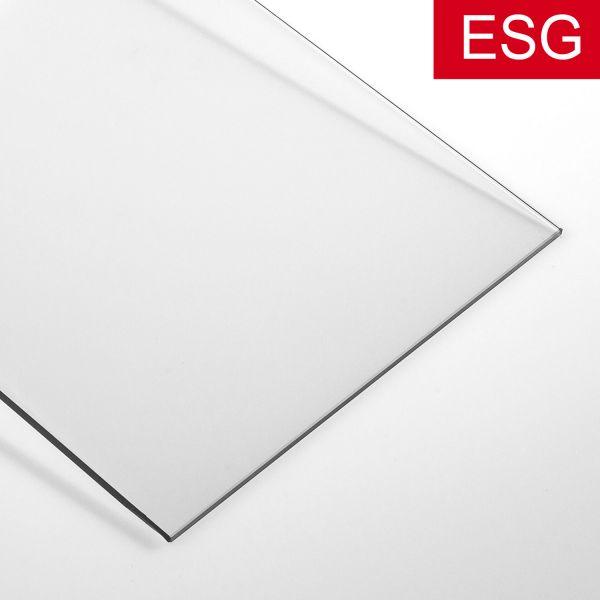 Kühlschrank-Glasplatte, klares Glas als ESG - Sicherheitsglas, klar