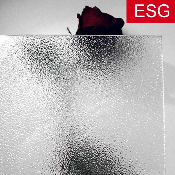 """Kühlschrank-Glasplatte, Ornamentglas """"504"""" als ESG - Sicherheitsglas, klar"""