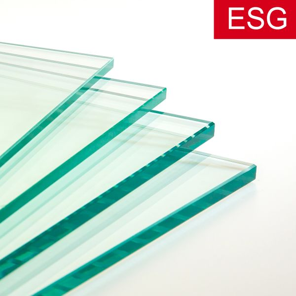 Normales klares Glas als ESG - Sicherheitsglas, Stärke 4 - 12 mm