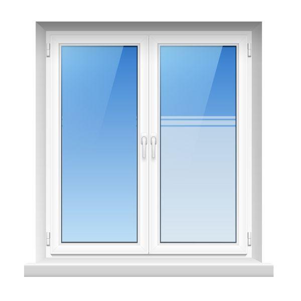Mattfolie, Streifenmuster zur partiellen Gestaltung von Fensterverglasungen