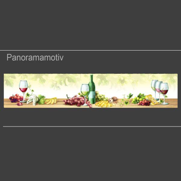"""Küchenrückwand aus Glas mit Motivdruck """"Wein"""""""