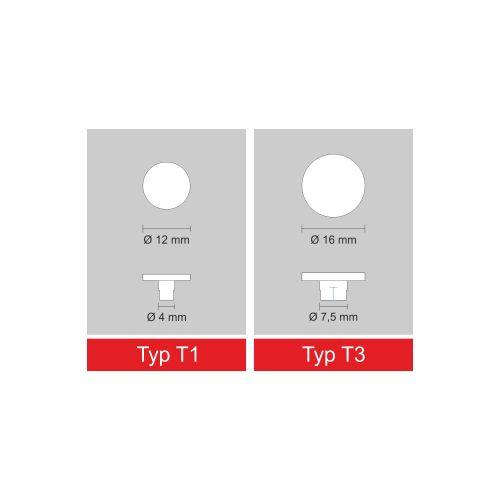 Aufleger mit Fuß für Bohrlöcher, transparent, 10 Stück  Vorschaubild #2
