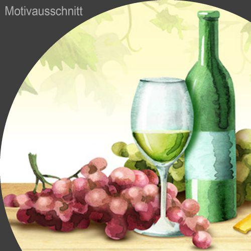 """Küchenrückwand aus Glas mit Motivdruck """"Wein""""  Vorschaubild #2"""