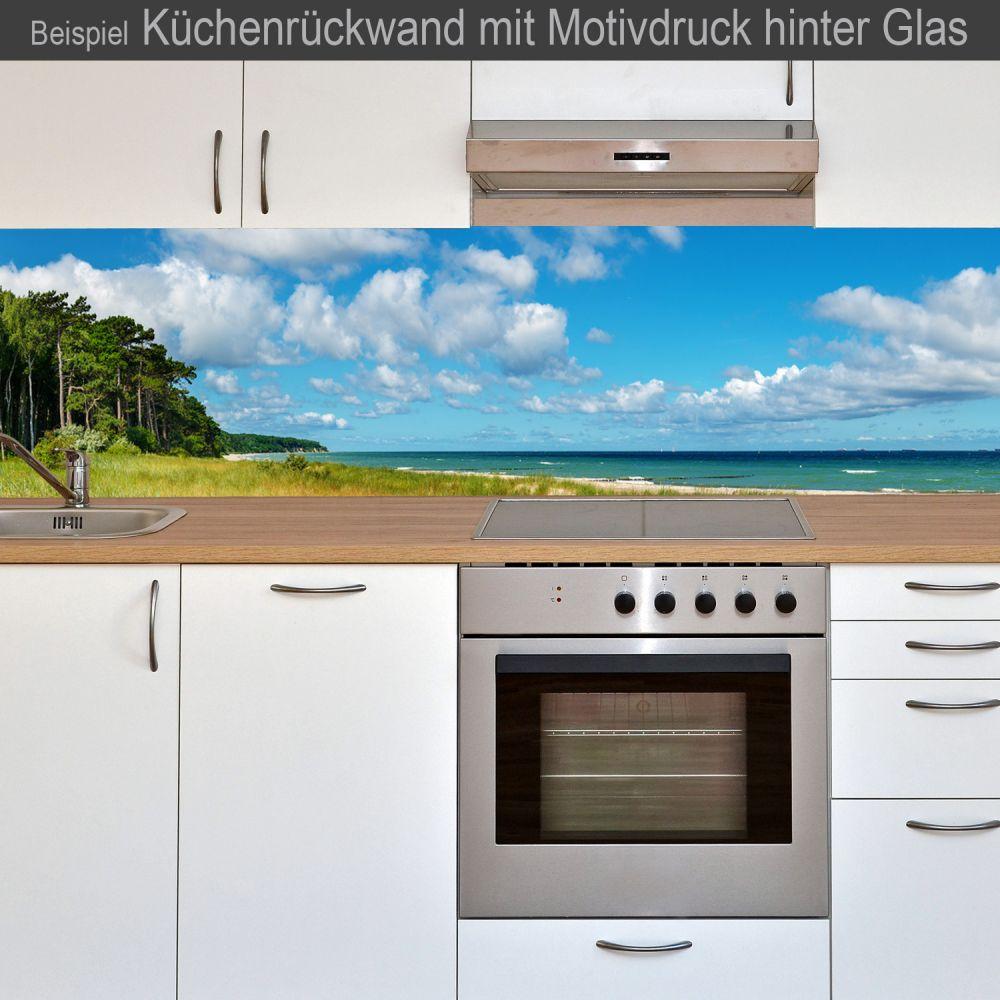 k chenr ckwand aus glas mit motivdruck strand online kaufen. Black Bedroom Furniture Sets. Home Design Ideas