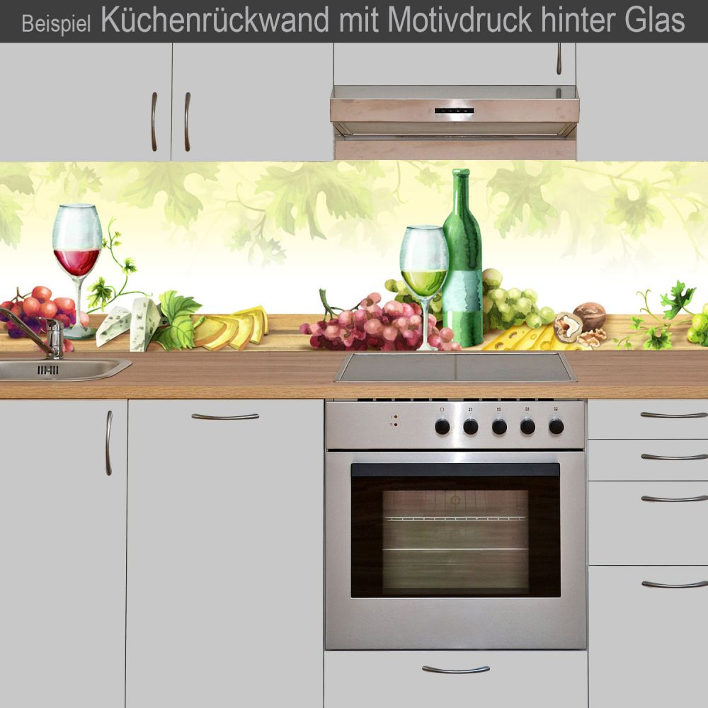 k chenr ckwand aus glas mit motivdruck wein online kaufen. Black Bedroom Furniture Sets. Home Design Ideas