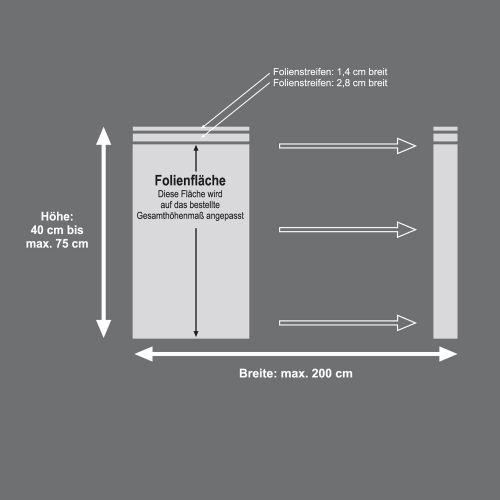 Mattfolie, Streifenmuster zur partiellen Gestaltung von Fensterverglasungen  Vorschaubild #3