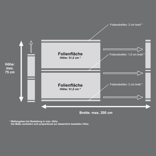 Mattfolie, Streifenmuster 01 zur partiellen Gestaltung von Duschkabinen  Vorschaubild #4