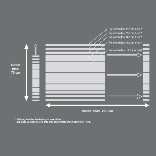 Mattfolie, Streifenmuster 02 zur partiellen Gestaltung von Duschkabinen  Vorschaubild #4