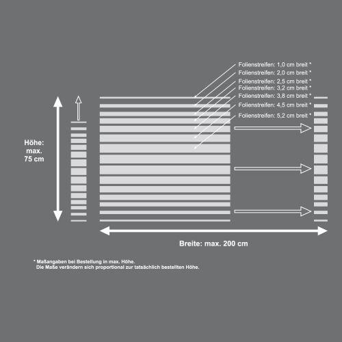 Mattfolie, Streifenmuster 03 zur partiellen Gestaltung von Duschkabinen  Vorschaubild #4